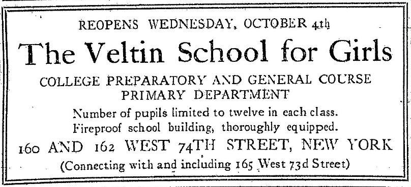 The Veltin School for Girls, New York